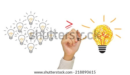 Inspiration concept for good idea - stock photo