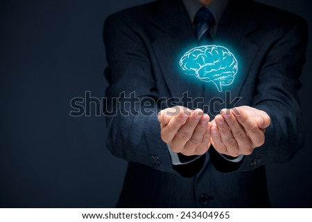 Inspiration, creativity, innovation, intellectual property, business vision, imagination, intelligence, psychologist and mental health concepts.  - stock photo