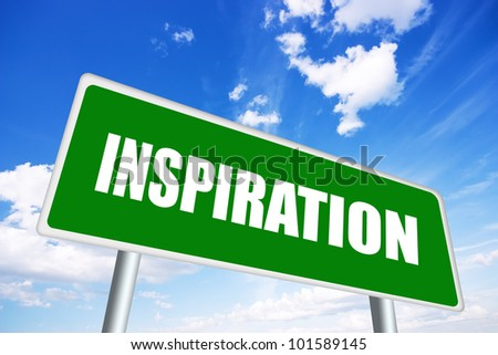 Inspiration illustrated sign