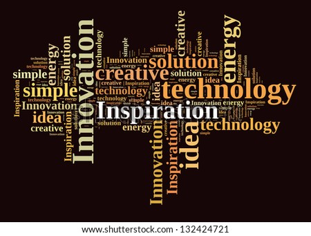 Inspiration in word cloud - stock photo