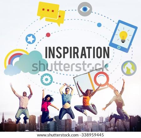 Inspiration Innovation Creativity Ideas Vision Concept - stock photo