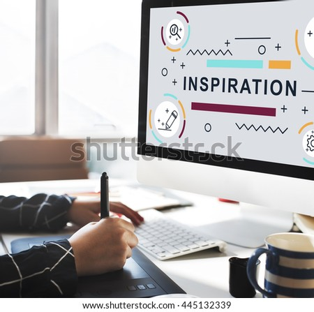 Inspiration Motivation Creative Innovation Graphic Concept - stock photo