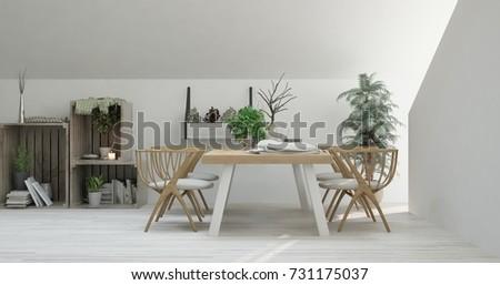 Inspiration White Minimalist Kitchen Scandinavian Interior Stock ...