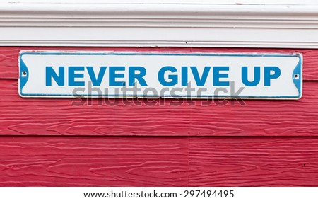 Inspirational motivating quote, Colorful wooden background - stock photo