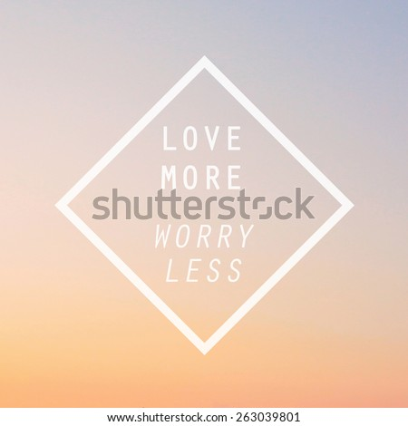 Inspirational motivating quote on blurred background with retro filter effect - stock photo