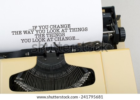 Inspirational Motivational Life / Business Quote Phrase  - stock photo