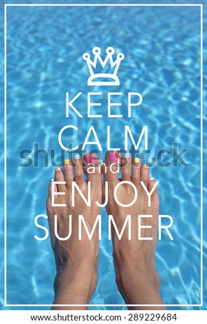 Bon Inspirational Summer Quote Poster Background Design / Keep Calm And Enjoy  Summer