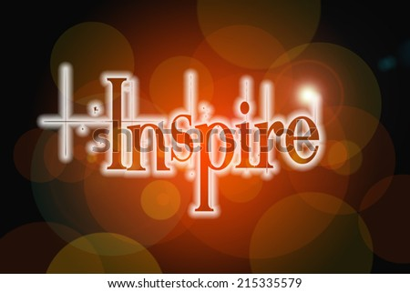 Inspire Concept text on background - stock photo