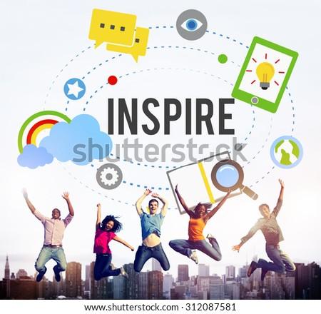 Inspire Ideas Creativity Knowledge Inspiration Vision Concept - stock photo