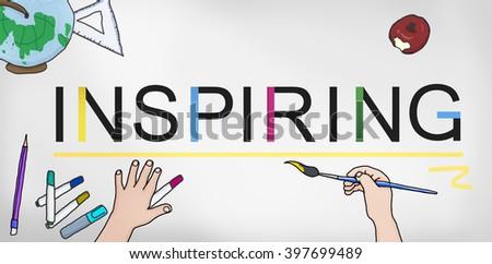 Inspiring Inspire Inspiration Motivate Creativity Concept - stock photo