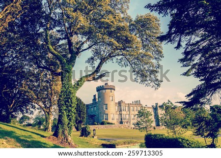 instagram dromoland castle ireland - stock photo