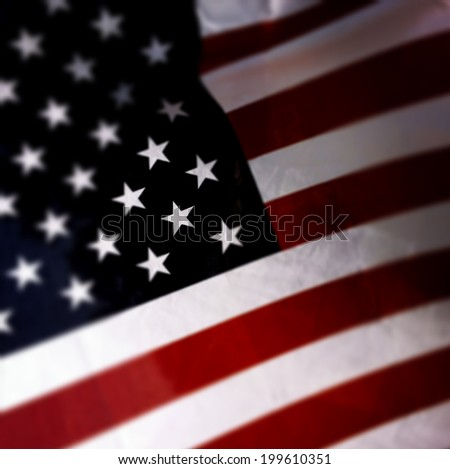 Instagram filtered image of an American Flag for 4th of July, Memorial Day, Flag Day - stock photo