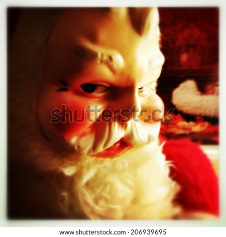 Instagram filtered style image of a vintage Santa Claus - stock photo