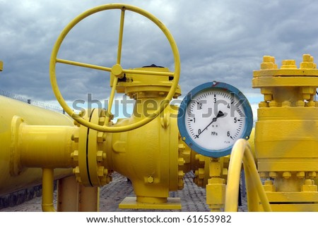 installation from showing zero manometer - stock photo