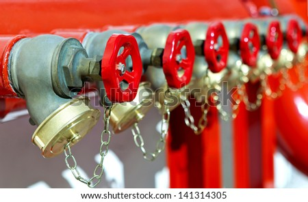 installation of fire safety - stock photo