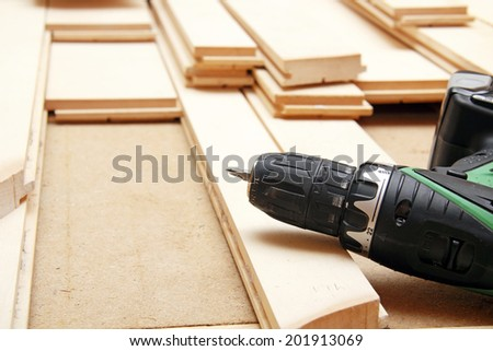 Installing hardwood floor and tools