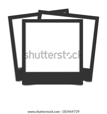 Instant camera photo frames - stock photo