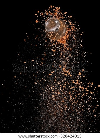Instant coffee and a capsule up - stock photo