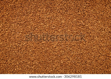 Instant coffee granules as an abstract background texture - stock photo