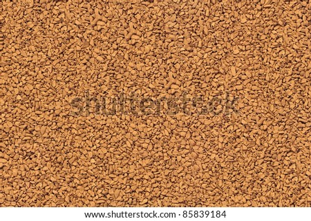 Instant coffee granules/beans.