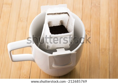 Instant freshly brewed coffee - stock photo