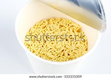 Instant noodle - stock photo