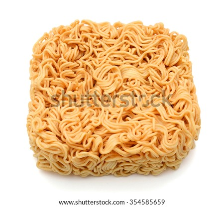 instant noodle on a white background