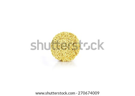 Instant noodle on white - stock photo