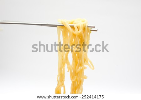Instant noodles isolated. - stock photo