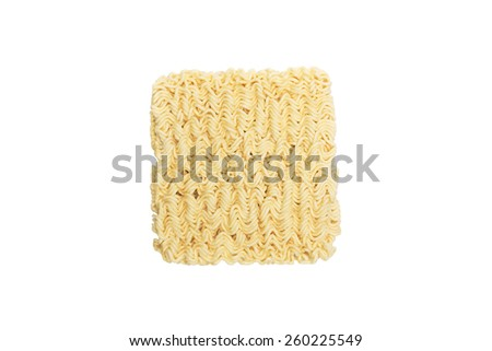 Instant noodles isolated on the white background - stock photo