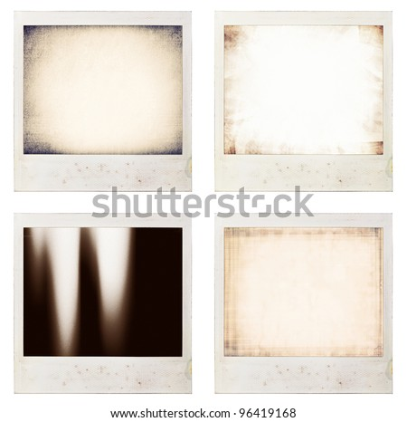 instant photo backgrounds set - stock photo