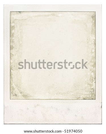 instant photo frame - stock photo