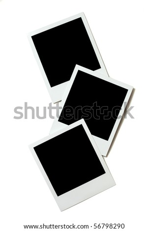 instant photo frame isolated - stock photo