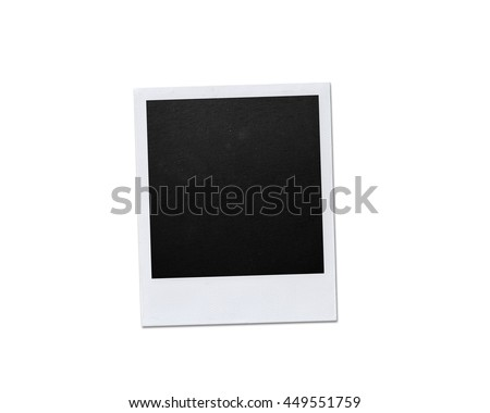 Instant photo frame isolated on white background - stock photo
