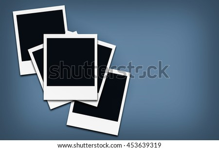 instant photo frames - empty space to place an image and text