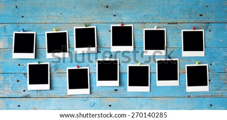 Instant photo frames, free space for pictures - stock photo