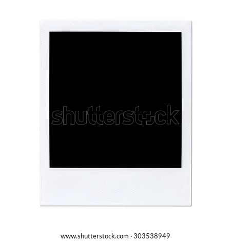 Instant photo isolated on white. Polaroid  - stock photo