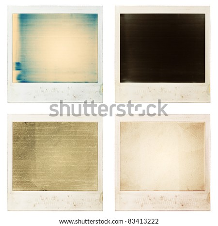 Instant photo prints with abstract background. - stock photo