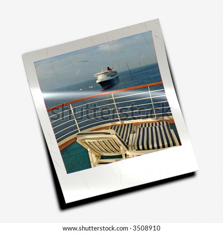 instant photo slide from cruise vacation