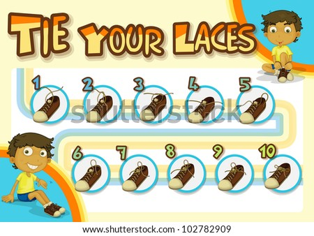 Kids Step By Step Guide To Putting On Shoes