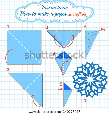 Instructions How To Make Paper Snowflake Tutorial Christmas Step By Origami