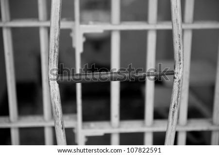 Instrument used for an escape attempt from Alcatraz...despite getting through the bars escape failed - stock photo