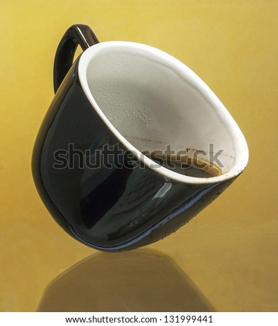 insulated cup coffee on uniform background