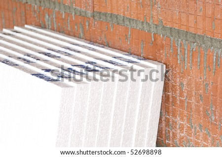 Insulation boards - stock photo