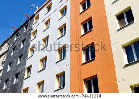 Insulation for thermal protection to the shell of the house - stock photo
