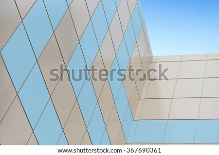 Insulation of walls, building cladding composite panels, resource conservation, building facade, wall skyscraper, insulation of facades, building material, building facing work. - stock photo