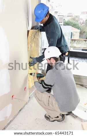 Insulation Work - stock photo