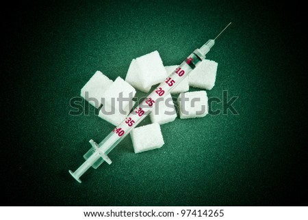 Insulin dependence - stock photo