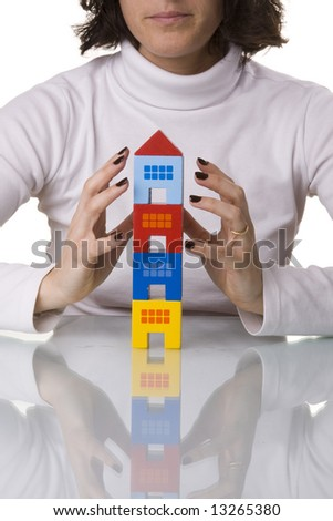 insurance agent, give you the best protection (selective and soft focus) - stock photo