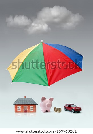 Insurance and protection concept  - stock photo